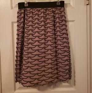 Lavish Ruffled Mini Skirt